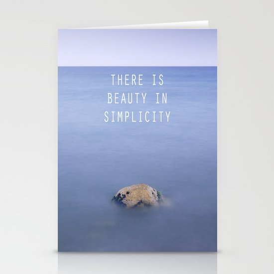 THERE IS BEAUTY IN SIMPLICITY Stationery Card