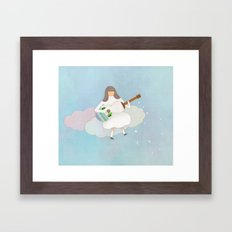 Winter Play Framed Art Print