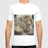 Lion King Mens Fitted Tee White SMALL