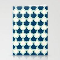 Scallop Pattern Stationery Cards