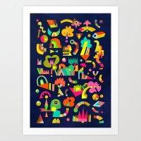 Schema 5 Art Print