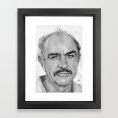 Sean Connery Traditional Portrait Print Framed Art Print