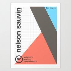 nelson sauvin//single hop Art Print