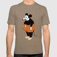 Mickey Da Rat Mens Fitted Tee Tri-Coffee SMALL
