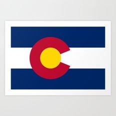 Colorado State Flag - Authentic version Art Print