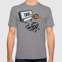 Back in the Day Mens Fitted Tee Tri-Grey SMALL