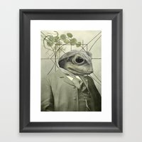 Frog Internal Portrait Framed Art Print