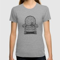 Big Chair Womens Fitted Tee Athletic Grey SMALL