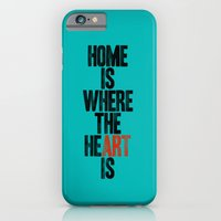 iPhone & iPod Case featuring HOME IS WHERE THE HE(ART) IS by WORDS BRAND™