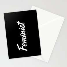 Feminist (on black) Stationery Cards