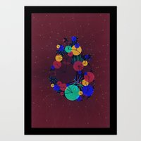Data Heart Art Print