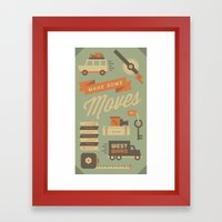 Move To California Framed Art Print
