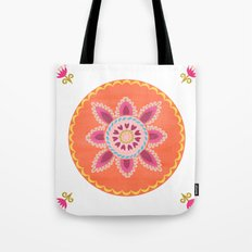 Suzani inspired floral 1 Tote Bag