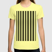 Stripe it! Womens Fitted Tee Lemon SMALL