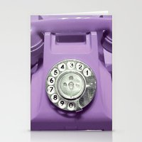 OLD PHONE - VIOLET EDITI… Stationery Cards