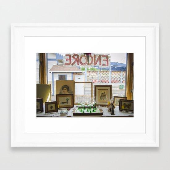Store window  Framed Art Print