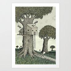 'Treehouse' Art Print