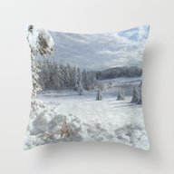 Scenery Forest Winter Wo… Throw Pillow