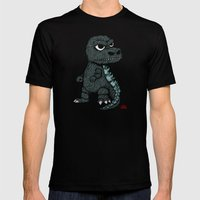 Baby Godzilla Mens Fitted Tee Black SMALL