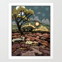April 9, 2012 - adjusted color Art Print