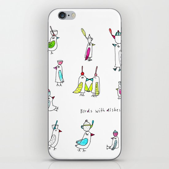 birds with dishes iPhone & iPod Skin