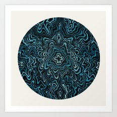 Intimate Portrait in Blue Art Print