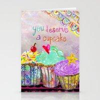 You Deserve A Cupcake Stationery Cards