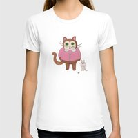 Two Kitties Womens Fitted Tee White SMALL