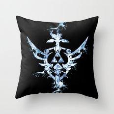 Water Triforce Throw Pillow