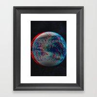 Earth Anaglyph  Framed Art Print
