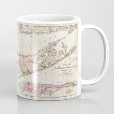 Long Island, New York  1842 Mather Map Mug
