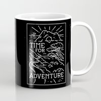 TIME FOR ADVENTURE (BW) Mug