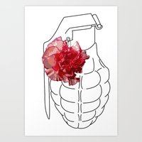 Beautiful Grenade Art Print