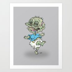 Zombie Pickles Art Print