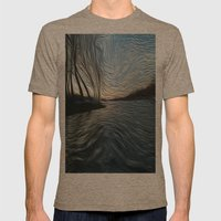 Lost in the Waves Mens Fitted Tee Tri-Coffee SMALL