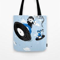 Surfing The Beats Tote Bag