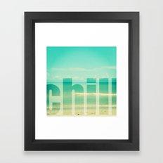 Chill - Photograph - Ocean, beach, waves Framed Art Print