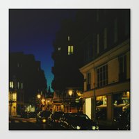 Paris By Night V Canvas Print