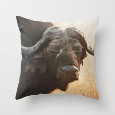 Grandpa Cape Buffalo  Throw Pillow