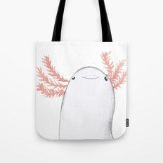 Axolotl Close-Up Tote Bag