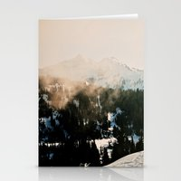 Winter Mountain Hike Stationery Cards