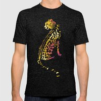 Space Leopard Mens Fitted Tee Tri-Black SMALL