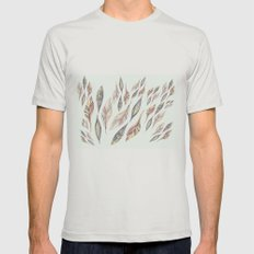 Feathers Mens Fitted Tee Silver SMALL