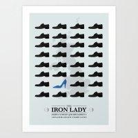 The Iron Lady - Minimal … Art Print