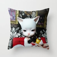 WEEKEND AT HOME (Cat Dol… Throw Pillow