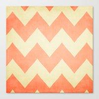 Fuzzy Navel - Peach Chev… Canvas Print