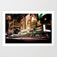 Lights on Broadway Art Print