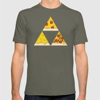 The Pizza Triforce Mens Fitted Tee Lieutenant SMALL