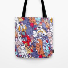 Space Toons In Color Tote Bag