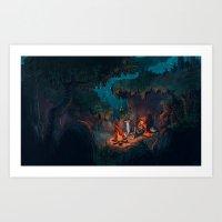 The Weary Traveller Rest… Art Print